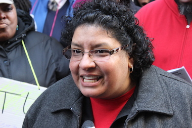 "Saucedo kindergarten teacher Martha Arriaga said, ""Our school did not respect our parents' decision"" on the ISAT."