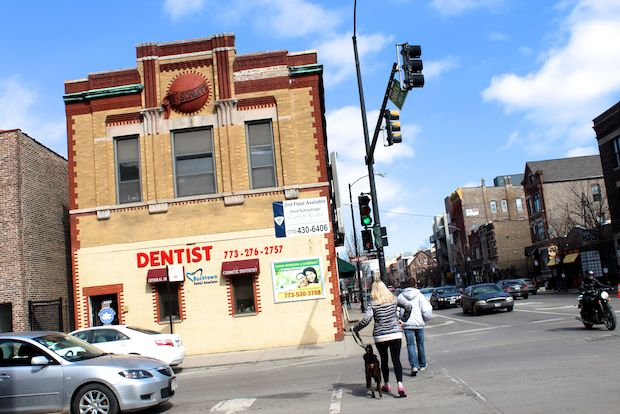 A second-floor, 2,000-square-foot retail space is for rent in a former Schlitz-tied tavern in Bucktown.