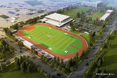 A rendering shows the $31 million sports center on the south side of the Illinois Medical District approved Tuesday. Special Olympics Chicago, a nonprofit for athletes with intellectual disabilities, is responsible for raising the money to build the complex.