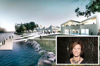 Architect Jeanne Gang was recognized by the Smithsonian's Cooper-Hewitt Museum's 2013 National Design Awards. Her studio's design for the Clark Park boathouse is seen here.
