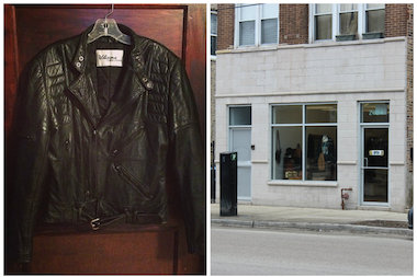 Though owner Nicole Everhart said she's still working on getting her inventory, she plans to feature leather jackets like this one at her new store, Tarnish.