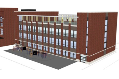 A rendering of the Lincoln Elementary annex.