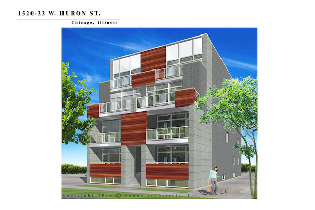 Plans for new condos at 1520-22 W. Huron St.