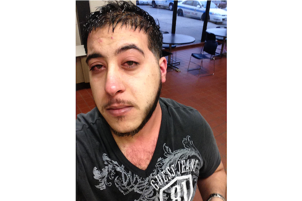 Amir Kishta, manager of Bestcom Wireless, chased down his assailants after being pepper-sprayed and robbed, police said.
