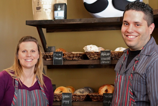 Chelsea and Jotam Torres opened The Bagelers Coffeehouse this week at 2461 N. Lincoln Ave.