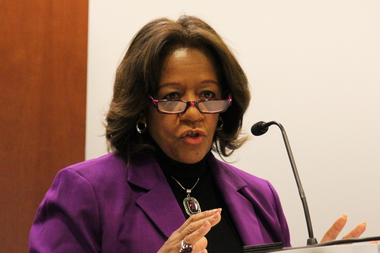 CPS boss Barbara Byrd-Bennett touted an 82 percent projected graduation rate at a news conference Thursday.