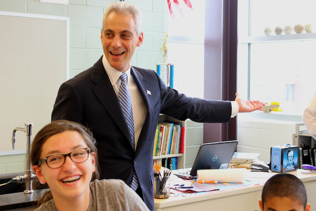 Mayor Rahm Emanuel was on hand to celebrate the completion of Bell Elementary's $10 million addition.