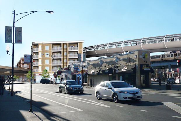 The CTA proposed a new flyover for the Brown Line to ease congestion, officials said.
