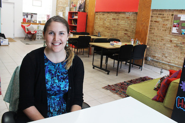 Blair Brettschneider, executive director and founder of GirlForward, moved the organization to an Edgewater storefront at 1251 W. Devon Ave.