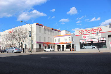 The CTA plans to demolish two buildings on North Broadway in Edgewater, which are now home to Chicago Northside Toyota and a Public Storage facility.