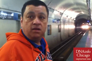 Eddie Palacios, 50, of Pilsen jumped down on the Blue Line tracks to save a woman as a train approached.
