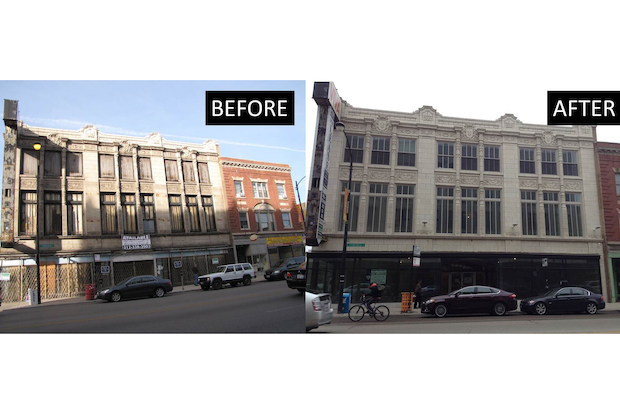 Developers have been working on a rehabbed facade, shared work spaces, a restaurant and rooftop space.