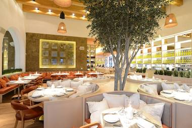 Fig & Olive's Newport Beach location. The Chicago restaurant will also feature live olive trees imported from Italy, France and Spain.