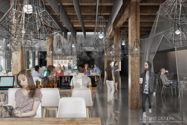Renderings of Geek Bar, which is planning to open in June at 1960 N. Clybourn.