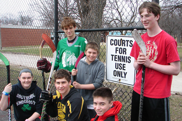 Neighborhood children have been playing roller hockey on the tennis courts at Kennedy Park for years. This summer, two of the four tennis courts will be converted to a pair outdoor cages specifically designed for street hockey.