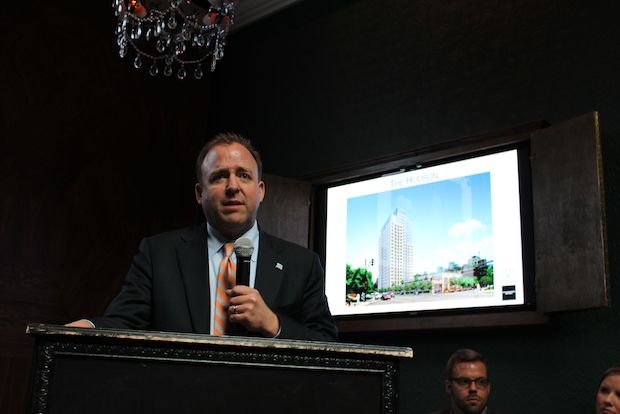 Representatives from the Onni Group presented plans for The Hudson, a mixed-use building proposed for 750 N. Hudson Ave.