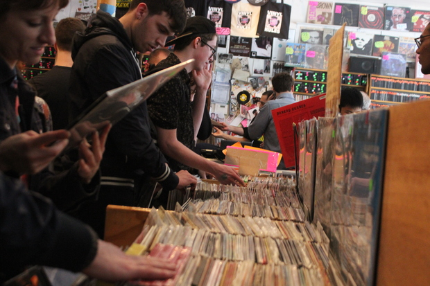 Chicagoans packed into record stores across the city Saturday for the seventh annual Record Store Day.