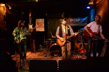 The Queue performs last year at the International Pop Overthrow festival at the Red Line Tap.