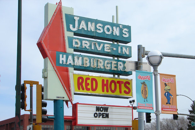 Janson's Drive-In reopened on Monday in Beverly. The restaurant had been closed for two years as on ongoing rehab project dragged on. Janson's debuted in September 1960. The new owners kept the classic decor and menu items.
