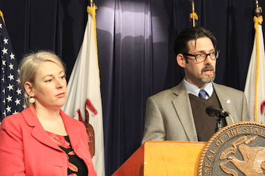 Kathie Kane-Willis, director of the Illinois Consortium on Drug Policy at Roosevelt University, and Chris Lindsey, of the Marijuana Policy Project, backed a decriminalization bill in the General Assembly.