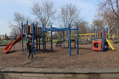 The Kelvyn Park playground in Hermosa is one of 10 area parks slated to get new or rehabbed playgrounds this year.