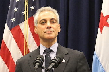 Mayor Rahm Emanuel urged state lawmakers Thursday to pass a bill that would put $100 million toward the construction of President Barack Obama's library and museum.