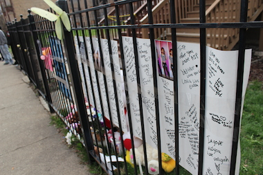 Friends and family created a memorial for Endia Martin, who was shot dead Monday.