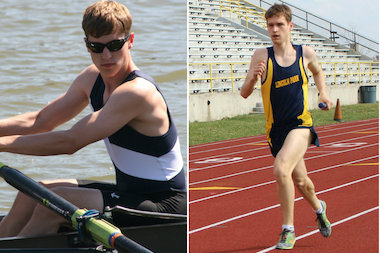 Twins Michael (r.) and Thomas Stubna are standout senior student-athletes for Lincoln Park High School. Thomas specializes in rowing at the Chicago Rowing Foundation, while Michael is a distance runner in track and cross-country for the LPHS Lions.