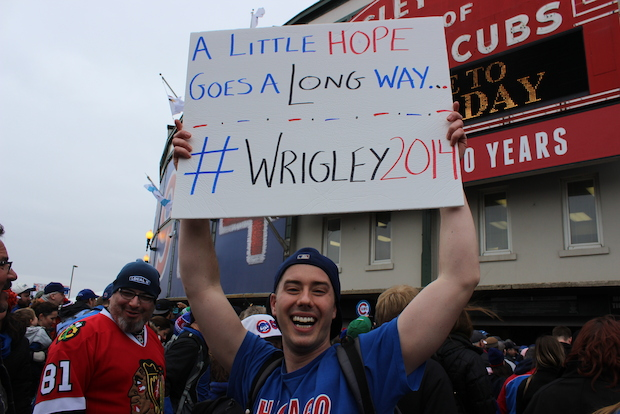 The Cubs played a home opener against the Phillies on a chilly Friday.