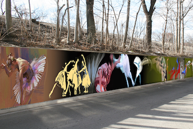 Artists Peter Hurley and Scott Bullock will paint their mural on Glenwood Avenue between Greanleaf and Lunt avenues.