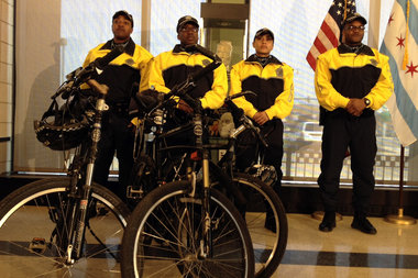 Police officers on foot patrol in high-crime areas will ride bicycles to help boost their visibility and mobility in the neighborhoods.