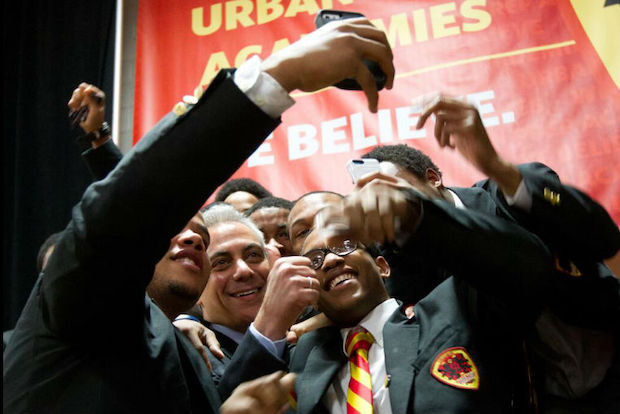 Urban Prep Academy for Young Men High School announced Tuesday that for the fifth consecutive year its entire senior class was accepted to a four-year college or university.