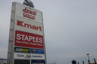 Kmart is one of three main shopping anchors in Wicker Park Commons.