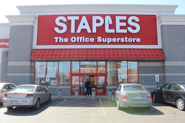 Staples will close its store at 75th Street and Stony Island Avenue on May 17 as part of a sweeping round of closures of 225 locations across the country.