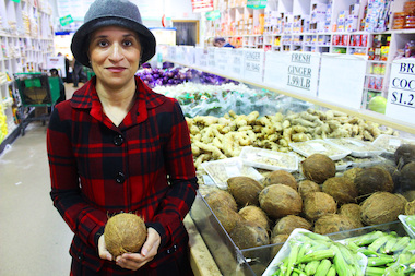 Susan Pachikara leads tours of Devon Avenue grocery stores, like Patel Brothers, to teach people how to cook Indian dishes from scratch.