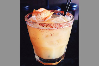 A Spicy Tequila Mimosa that will be featured at Harbee's Tavern for the Pilsen Cantina Crawl.