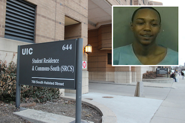 Tavares Humphries, 28, is facing five felony charges in connection with Monday's assault of a University of Illinois-Chicago student at her dorm room in Commons South, a UIC spokesman said.