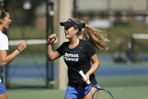DePaul junior Patricia Fargas was named the Most Oustanding Player of the 2014 Big East Women's Tennis Tournament. The Blue Demons face Notre Dame on Friday in Evanston in the first round of the NCAA tournament.