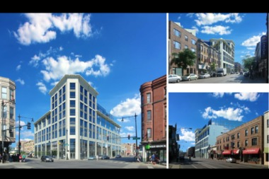 Renderings of the 3200 N. Clark St. project.