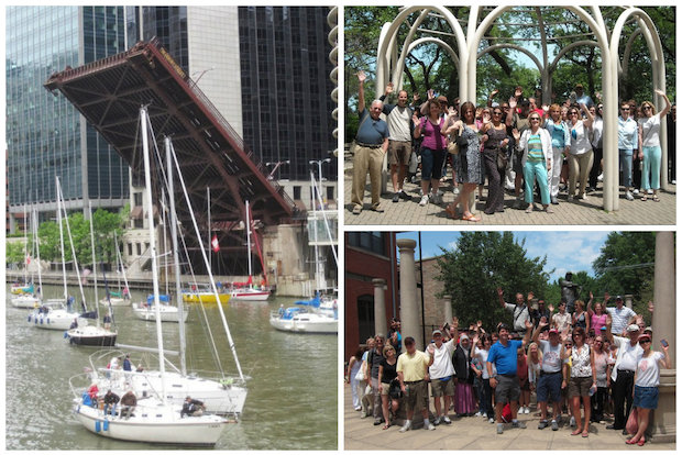 "Windy City Explorers is turning five this weekend!  Celebrate the Meetup.com group's anniversary at a walking tour of the city's ""Top 10 Bridges,"" followed by a lunch party at CityScape Bar."