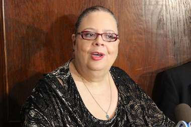 CTU President Karen Lewis had harsh words for Mayor Rahm Emanuel and gubernatorial candidate Bruce Rauner Monday at a City Club luncheon.