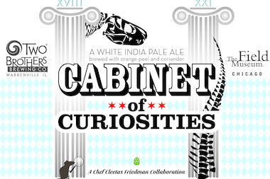 The logo of the Field Museum's second beer, Cabinet of Curiosities, brewed in partnership with Two Brothers Brewing Co.