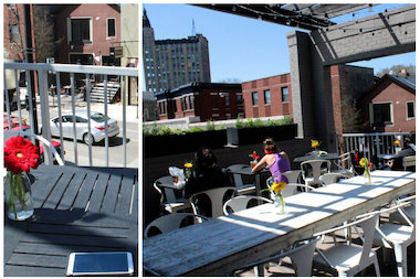 The patio at Goddess and Grocer can fit up to 32 people.