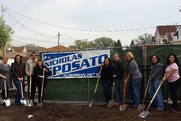 The new playground is being jointly funded by Ald. Nicholas Sposato (36th) and the Chicago Park District.