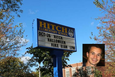 A.J. Stich was picked to lead Hitch Elementary School Thursday, the same day his daughter was born.