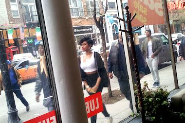 Actress and singer Jennifer Hudson filmed a music video in Wicker Park Friday.