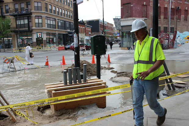 Water-main improvements are forcing water to be shot off to areas of Lincoln Park Thursday and Friday.