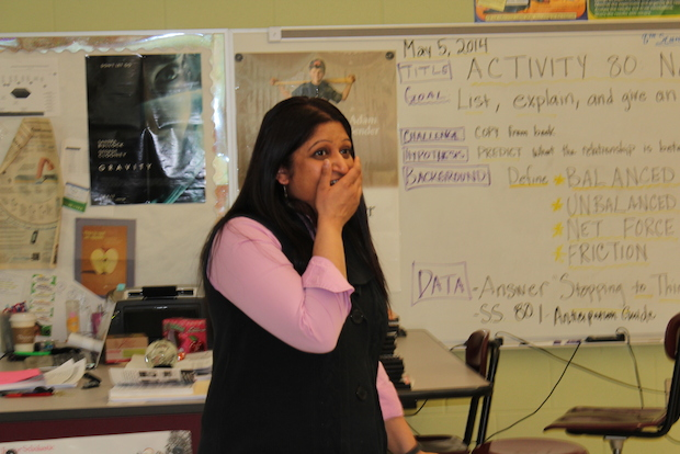 Rozy Patel teaches seventh- and eighth-grade science, writing, art and sex education.