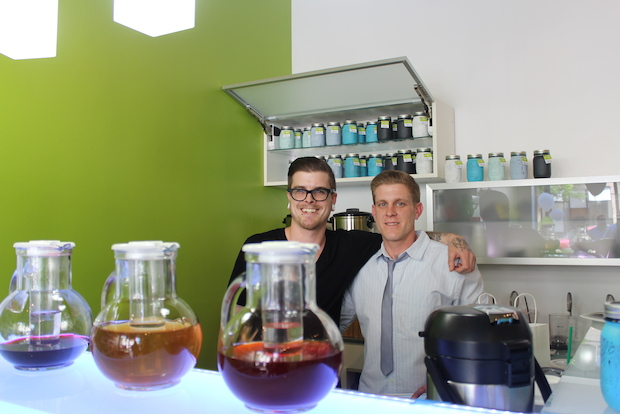 The cafe, operated by brothers David and Damian Ratulowski, sells mostly loose-leaf tea.
