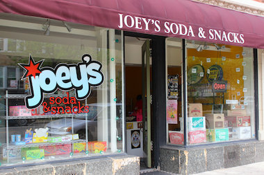 Joey's has gained a reputation for stocking regional craft sodas.